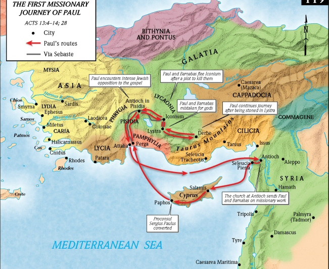 Paul And Barnabas Set Sail From Seleucia Arrived On The Island Of Cyprus To Town Salamis Other Side They Headed Towards